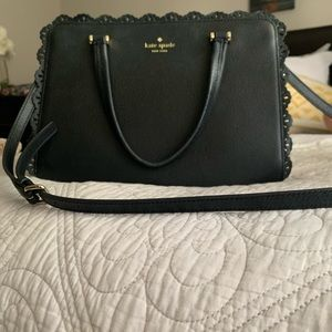 Kate Spade Black Pebbled Leather Handbag